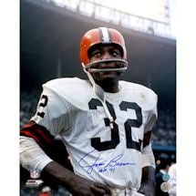 Jim Brown Cleveland Browns Signed Rookie Close-Up 16x20 Photo w/ HOF 71 Insc (AJ Sports Auth)