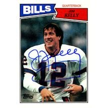 Jim Kelly Signed  1987 Topps Rookie Card