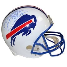 "Jim Kelly Signed Buffalo Bills White Replica Helmet w/ ""HOF"" Insc."