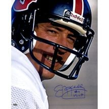 "Jim Kelly Signed Houston Gamblers Headshot 16x20 Photo w/ ""84 MVP"" insc."