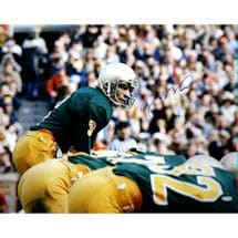 Joe Montana Notre Dame At Line Of Scrimmage Signed 16x20 Photo