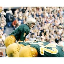 Joe Montana Signed Notre Dame At Line Of Scrimmage 16x20 Photo