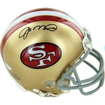 Joe Montana Signed San Francisco 49ers Replica Mini Helmet