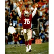 Joe Montana Signed Touchdown Signal 16x20 Metallic Photo