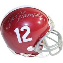 Joe Namath Signed Alabama Crimson Tide Mini Helmet