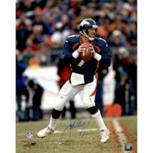 John Elway Signed vertical in pocket new uniform 16x20 Photo
