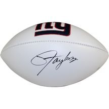 Lawrence Taylor Signed New York Giants White Panel Jarden Signature Football