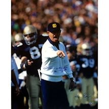 "Lou Holtz Pointing with White Sweater Ken Regan 16x20 Photograph w/ ""1990"""