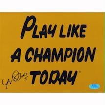 Manti Te'o Play Like a Champion Today Signed 8x10 Photo (Te'o Holo Only)