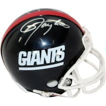 Mark Bavaro/Lawrence Taylor/Bill Parcells Triple Signed Giants 80's Style Mini Helmet