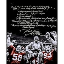 Marty Lyons Signed Carry Off 'Coach Bryant' 16x20 Story Photo