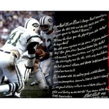 "Matt Snell Signed 69' Jets 16x20 ""Story"" Photo"