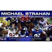 "Michael Strahan Signed ""Defensive End"" Collage 10x17 Photo"