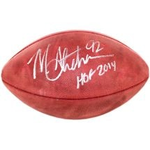 "Michael Strahan Signed NFL Duke Football w/ ""HOF"" Insc."