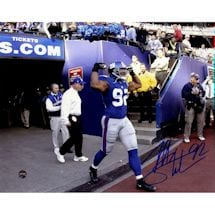 Michael Strahan Signed Taking The Field 8x10 Photo