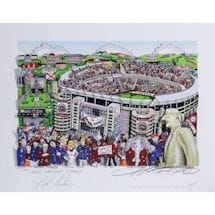 "Nick Saban Signed Alabama Pop Art by Charles Fazzino w/ ""2011 National Champs"" Insc. (14 National Titles)(L/E 200)"