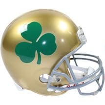 Notre Dame Riddell Full Size Replica Helmet with Shamrock