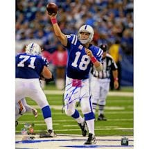 Peyton Manning Signed Metallic Indianapolis Colts 16x20 BCA Action Photo (LE/18)