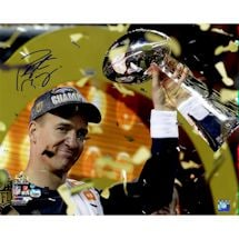 Peyton Manning Signed Super Bowl 50 Celebration 16x20 Photo