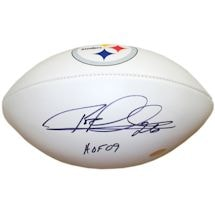 "Rod Woodson Signed Pittsburgh Steelers Logo White Panel Football w/ ""HOF 09"" Insc."