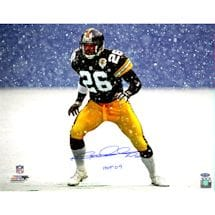 "Rod Woodson Steelers Snow 16x20 Photo w/ HOF 09""Insc."