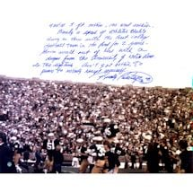 Rudy Ruettiger Signed 16x20 'Five Foot Nothing' Quote Story Photo