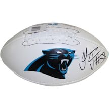 Thomas Davis Signed Carolina Panthers Wilson White Panel Football (JSA Auth)
