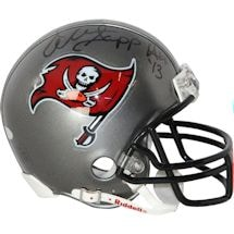 "Warren Sapp Signed Tampa Bay Buccaneers Replica Mini Helmet Inscribed ""HOF 13"""