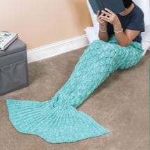Mermaid Tail Blankets - Aqua