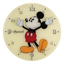 Retro Mickey Mouse Glass Clock