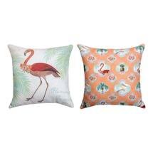 Indoor/Outdoor Flamingo Pillow