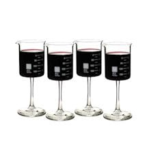 Periodic Glassware Beaker Collection - Set Of 4 Wineglasses