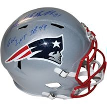 Malcom Butler Signed New England Patriots Riddell Full Size Speed Helmet