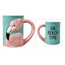 Flamingo Beach Time Mug