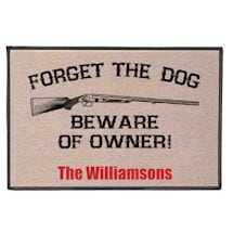 Personalized Beware Mat