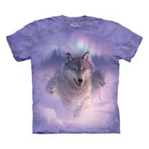 Northern Lights Wolf Tee
