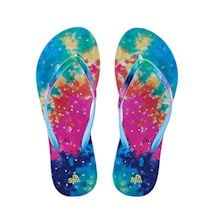 Tie Dye Ladies Shower Flip Flops