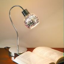 Mercury Glass Globe Mini Lamp