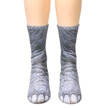 Sublimated Paw Crew Socks - Elephant