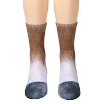 Sublimated Paw Crew Socks - Horse