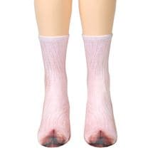 Sublimated Paw Crew Socks - Pig