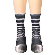 Sublimated Paw Crew Socks - Zebra
