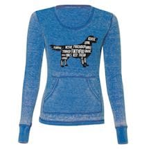 Animal Outline Ladies Thermal Long Sleeve - Dog