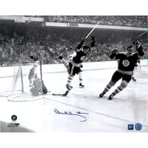 Bobby Orr Signed 'Flying Goal' 16x20 Photo (Great North Road America Auth)