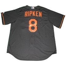 Cal Ripken Jr Signed Baltimore Orioles Majestic Cool Base Replica Black Jersey