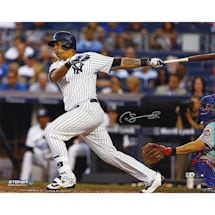Gary Sanchez Signed 'Swinging' 16x20 Photo (Signed in Silver) (MLB Auth)