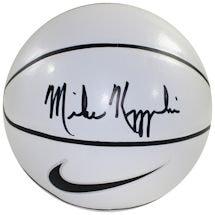 Mike Krzyzewski Signed Nike Elite White Panel Regulation Autograph Basketball (6 White Panels, 2 Brown Panels)