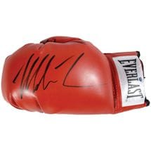 Mike Tyson Signed Boxing Glove (White Everlast Patch)