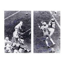 "Roger Staubach/Drew Pearson Dual Signed 'Hail Mary' 16x20 Photo w/ ""Hail Mary 12/28/75"" Insc By Pearson"