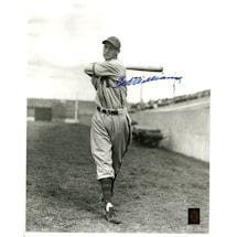 Ted Williams Signed Black and White 1950 Spring Training 16x20 Photo (Green Diamond Auth)